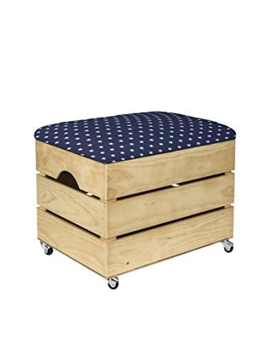 Really Nice Things Caja Vintage Box Estrellas Marrón / Azul