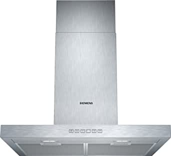 Siemens LC67BC532 Wandhaube / 60 cm / Arbeitsplatzbeleuchtung mit 2x 3 W LED-Modulen / Box-Esse 45 mm / edelstahl