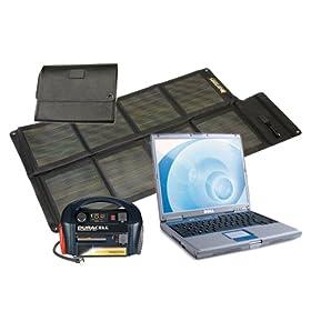 Solar Laptop Charger & Portable Power Kit 300 Watt - 25 Watt Solar Panel