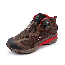 Clorts Men\'s Boa Outdoor Backpacking Boot Waterproof Hiking Boot Brown 3B025D US9