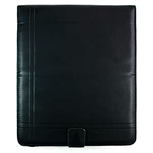 Amazon Exclusive Kroo Americana-West Napa Leather Apple iPad Case (Black/Black)