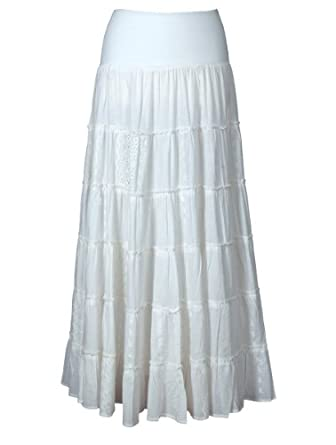 white cotton maxi skirt co uk clothing