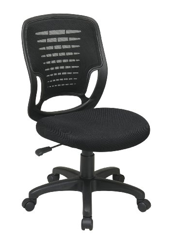 Office Star WorkSmart Task Chair with Screen Back and Contoured Plastic Shell