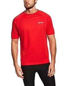 Berghaus Men's Essential Short Sleeve Crew Baselayer - Extreme Red, Medium