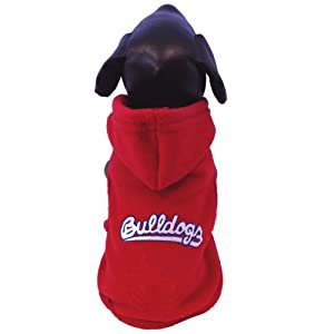 NCAA Fresno State Bulldogs Polar Fleece Hooded Dog Jacket, Tiny by All Star Dogs