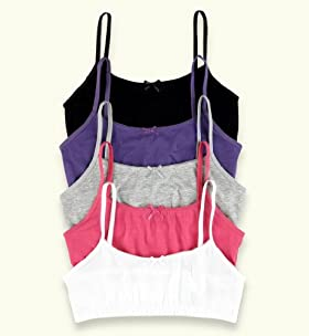 5 Pack - Older Girls' Cotton Rich Assorted Crop Tops