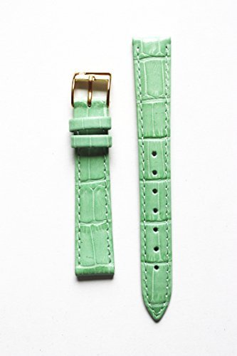 cyma-14mm-mint-alligator-grain-genuine-leather-watchband-with-s-s-buckle