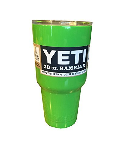 YETI Rambler Cup Custom Colors, 30 oz, Stainless Steel Tumbler, Travel Mug, Powder Coated (Lime Green)
