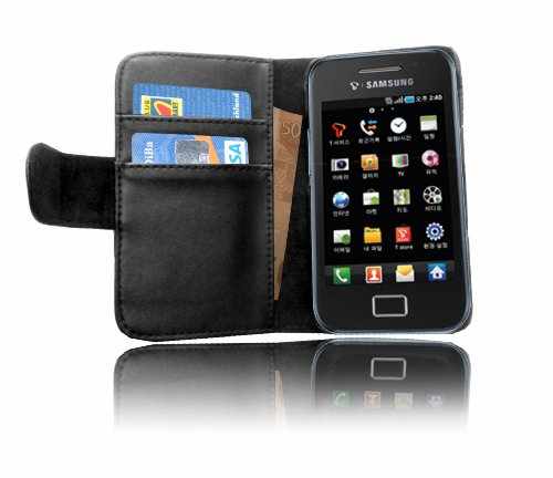 Originale Cadorabo! Premio custodia pelle contro Samsung Galaxy ACE S5830 nero