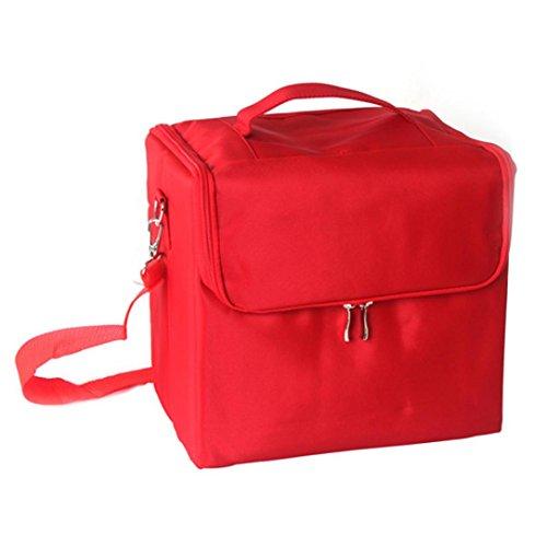 Eenkula Personalizzati Leopard Beauty Case Makeup Box 29.5*21*27cm, trucco bagaglio a mano valigia Nail Art
