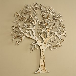ivory metal tree outdoor wall art kitchen home