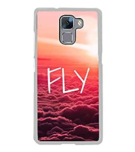 Fly 2D Hard Polycarbonate Designer Back Case Cover for Huawei Honor 7 :: Huawei Honor 7 Enhanced Edition :: Huawei Honor 7 Dual SIM