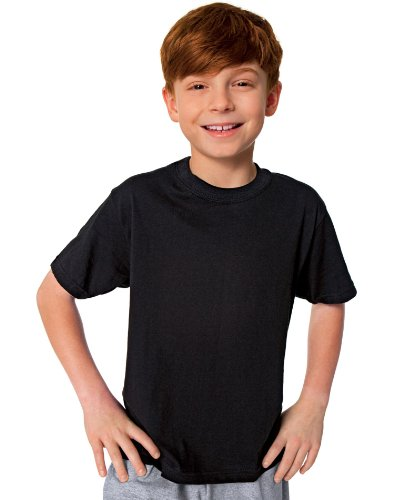 Hanes Red Label Boys' Dyed Crewneck T-Shirt 3-Pack, XL Black/Grey