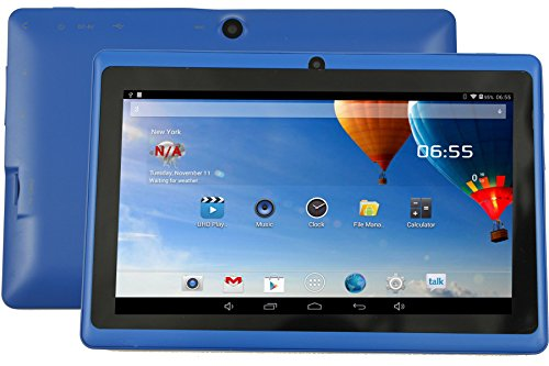 DanCoTek 7 Android4.4.2 Dual Core 1.5GHz A23 CPU Bluetooth WiFi Dual Camera Capacitive Touch 800*480 External 3G Compatible 512MB 4GB Tablet PC (Blue)