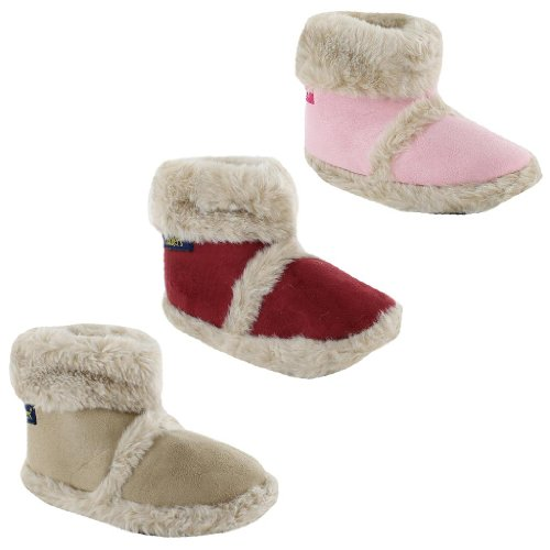 New Kids Boys Girls Coolers Furry Ankle Boots Slippers Sizes UK 10 11 12 13 1 2 Junior Infants Warm Snugg Slip On Winter Boot