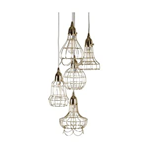Gilded Barn Gold Wire Five Pendant Lamp