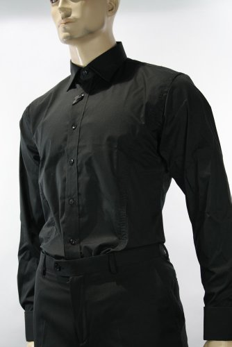 Mens Slim Fit Smart Casual double cuff shirt with cuff links