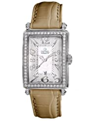 Gevril Women's 7249NL.5A White Mother-of-Pearl Genuine Alligator Strap Watch