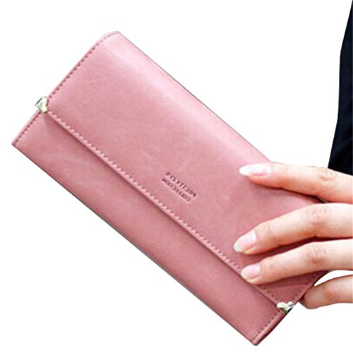 SPRINGWIND Women's Faux Leather Wallet Card Purse Handbag