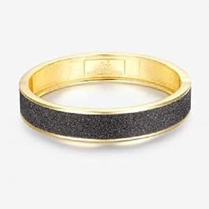 Armband in Goldoptik, außen mit schwarzem Glanz. Made in Italy. Luca Barra BK696