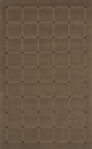 Momeni Rugs METROMT-19KHA5080 Metro Collection, 100% Wool Hand Loomed Contemporary Area Rug, 5' x 8', Khaki