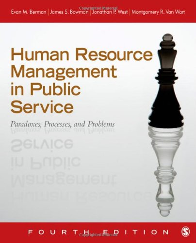Human Resource Management in Public Service: Paradoxes, Processes,...