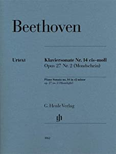 "Piano Sonata no.14 op.27/2 - ""Moonlight"" - piano - revised edition - ( HN 1062 ) from G. Henle Verlag"