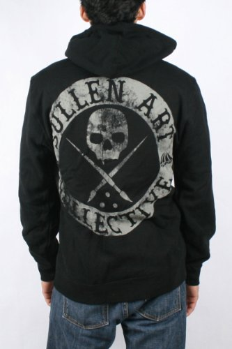 Sullen - Mens Badge of Honor Hoodie in Black, Size: Small, Color: Black