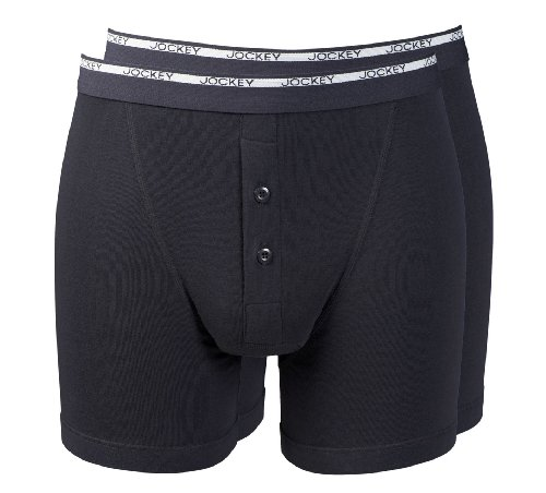 jockeyr-mens-modern-classic-2-pack-fine-cotton-boxer-trunk-underwear-with-button-fly-colour-black-si
