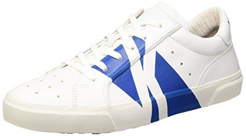 Bikkembergs Rubb-Er 668 L.Shoe M Leather Scarpe Low-Top, Uomo, Bianco (White/Bluette), 43