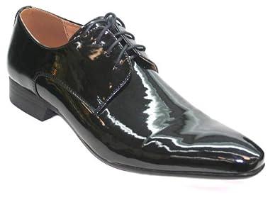 Chaussures Hommes - Vernis Noir Très Tendance - Taille 40