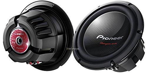 """New Pair Pioneer Ts-W260D4 10"""" 1200 Watt Car Audio Subwoofers 4 Ohm Dvc Bass Sub"""