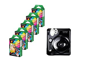 Fujifilm Instax 50S Camera + Mini Rainbow Colored Border 50 images