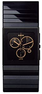 Rado R21714722 Ceramica Mens Watch -Black Dial Black Ceramic Quartz Movement