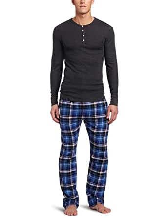 Bottoms Out Men's Thermal Flannel Gift Set, Royal/Raven, Small