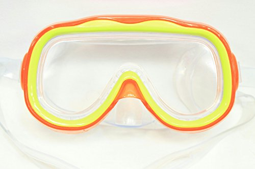 Splash N Swim Child Mask Goggle Pool Water Sport Cover Protect Orange/Yellow - 1