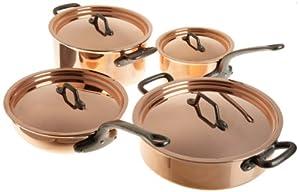 Amazon Com Matfer 915901 8 Piece Bourgeat Copper Cookware