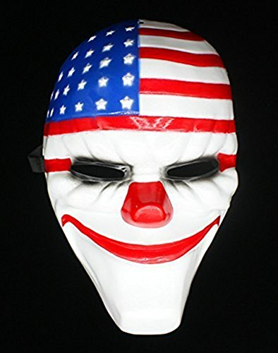 SPOD® PVC Payday 2 Dallas Mask for Costume Halloween Party