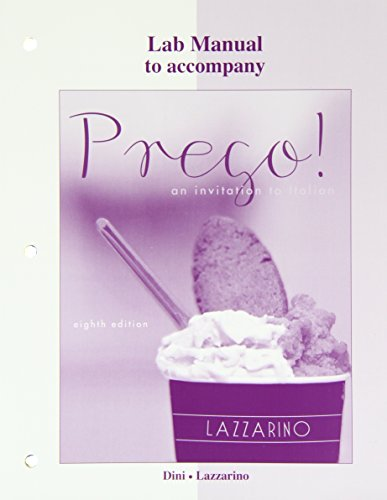 Laboratory Manual for Prego!