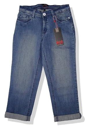 h i s his damen jeans hose mara ocean capri 34 w304. Black Bedroom Furniture Sets. Home Design Ideas