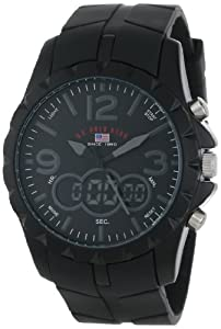 U.S. Polo Assn. Sport Men's US9058 Black Analog-Digital Watch