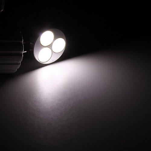 Kingso G4 3W 3Smd Cob Led Car Light Lamp Bulb 12V Pure White