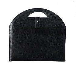 Chalk Factory Full Grain Leather Portable Sleeve/ Bag/ Slipcase for Dell Dell 3542 15.6-inch Laptop #OR (Black)