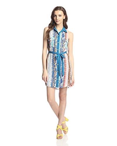 Kaya di Koko Women's Shirt Tie-Waist Dress