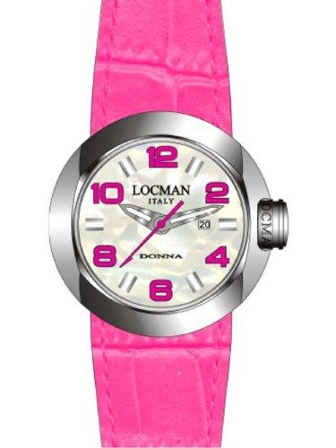 Locman - 042100MWNFX0PSF-FS-W - Montre Femme - Quartz Analogique - Bracelet cuir Rose