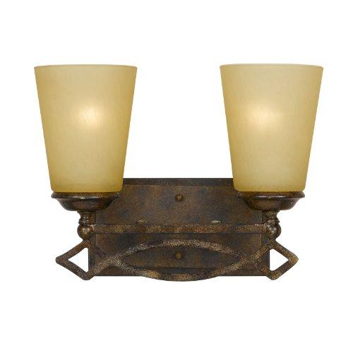 Yosemite Home Decor Twc5537Vn-2Bz Scarlet 2-Light Vanity, Indian Scavo Glass front-455042