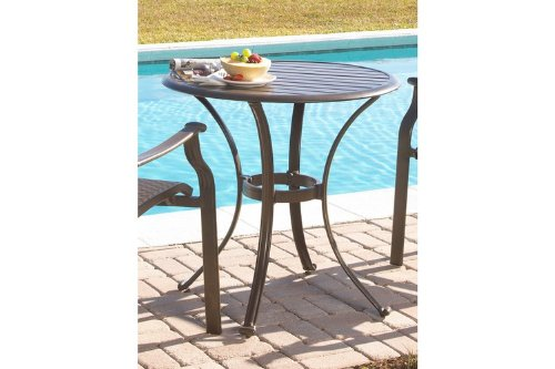 Panama Jack Outdoor Island Breeze Slatted Aluminum Bistro Dining Table, 30-Inch image