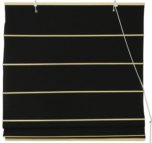 Cotton Roman Window Shades - Black 36