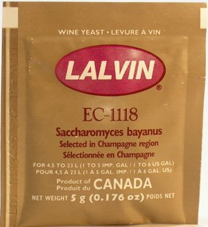 Lalvin EC-1118 Champagne from Midwest Homebrewing and Winemaking Supplies