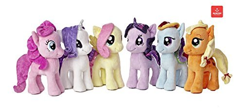 "My Little Pony Friendship Magic Collection: Rarity, Pinkie Pie, Applejack, Fluttershy, Rainbow Dash, Twilight Sparkle 6.5"" Plush Toys"